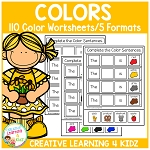 Color Worksheets ~Digital Download~