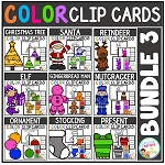 Color Clip Cards: Bundle 3 Christmas ~Digital Download~