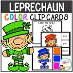Color Clip Cards: St. Patrick's Day Leprechauns ~Digital Download~