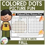 Colored Dots Picture Fun: Fall ~Digital Download~