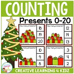 Counting Clip Cards 0-20: Christmas Presents ~Digital Download~