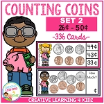 Money Counting Coins Card Set 2 ~Digital Download~