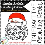 Interactive Counting Books 1-20: Santa Swirls ~Digital Download~