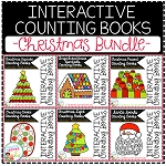 Interactive Counting Books 1-20: Christmas BUNDLE ~Digital Download~