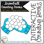 Interactive Counting Books 1-20: Snowballs ~Digital Download~