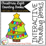 Interactive Counting Books 1-20: Christmas Tree Lights ~Digital Download~