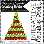 Interactive Counting Books 1-20: Christmas Cupcakes ~Digital Download~
