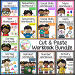 Cut & Paste Workbook Bundle {Complete Set} Autism ~Digital Download~