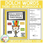 Dolch Words Workbook 5 Third Grade ~Digital Download~