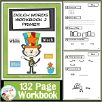 Dolch Words Workbook 2 Primer ~Digital Download~