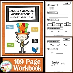 Dolch Words Workbook 3 First Grade ~Digital Download~