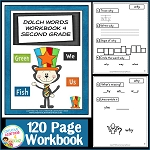 Dolch Words Workbook 4 Second Grade ~Digital Download~