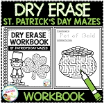 Dry Erase Workbook: St. Patrick's Day Mazes ~Digital Download~