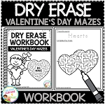 Dry Erase Workbook: Valentine's Day Mazes ~Digital Download~