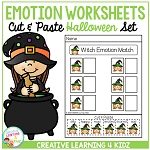 Emotion Matching Cut & Paste Worksheets: Halloween ~Digital Download~