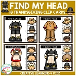 Find My Head Clip Cards: Thanksgiving ~Digital Download~