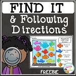 Find It & Following Directions Freebie ~Digital Download~