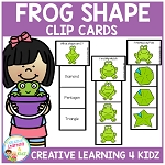 Frog Shape Clip Cards ~Digital Download~