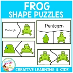 Frog Shape Puzzles ~Digital Download~