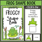 Frog Shape Book ~Digital Download~