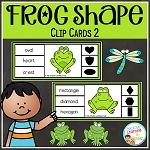 Frog Shape Clip Cards 2 ~Digital Download~