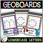 Geoboard Templates: Alphabet Lowercase ~Digital Download~