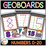 Geoboard Templates: Numbers 0-20 ~Digital Download~