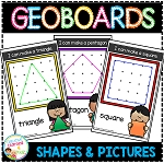 Geoboard Templates: Simple Shapes & Pictures ~Digital Download~