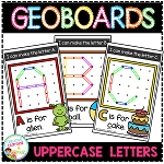 Geoboard Templates: Alphabet Uppercase ~Digital Download~