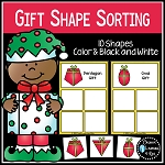 Shape Sorting Mats: Christmas Gifts ~Digital Download~