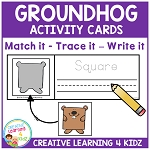 Groundhog Activity Cards ~Digital Download~