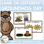 Same or Different Groundhog Day Cards ~Digital Download~