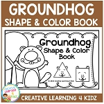 Groundhog Shape Book ~Digital Download~