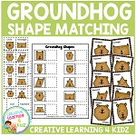 Groundhog Shape Matching & Memory ~Digital Download~