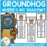 Groundhog Shadow Clip Cards ~Digital Download~