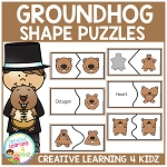 Groundhog Shape Puzzles ~Digital Download~