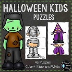 Halloween Kids in Costumes Puzzle ~Digital Download~
