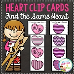 Heart Clip Cards Valentine's Day ~Digital Download~