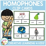 Homophone Clip Cards ~Digital Download~