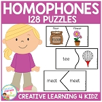 Homophone Puzzles ~Digital Download~