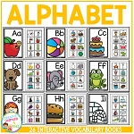Interactive Vocabulary Books: Alphabet ~Digital Download~