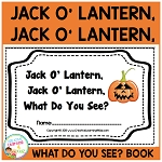 Halloween Jack O' Lantern What Do You See? Cut & Paste Book ~Digital Download~