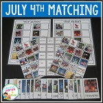 July 4th Matching Boards + Flashcards ~Digital Download~
