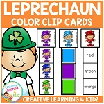 Leprechaun Color Clip Cards St. Patrick's Day ~Digital Download~
