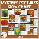 Mystery Pictures 100's Chart: Fall ~Digital Download~