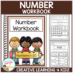 Numbers 1-20 Workbook ~Digital Download~