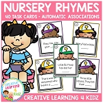 Nursery Rhyme Task Cards Automatic Associations ~Digital Download~