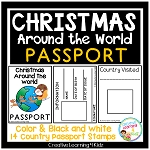 Christmas Around the World Passport ~Digital Download~