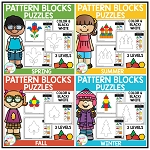 Pattern Block Puzzles: Seasons Bundle ~Digital Download~