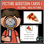 Picture Question Inference Cards Set 1 ~Digital Download~